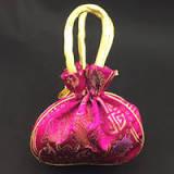 10pcs lot women drawstring cotton bags portable multifunctional pouch cute girl printing travel backbag wholesale