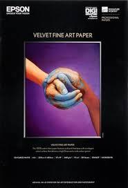 <b>Epson</b> Velvet <b>Fine Art Paper</b> A2 (42 x 59,4cm)/25, C13S042096 ...