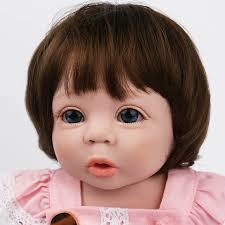 NPK DOLL Reborn Baby Doll <b>19 inch</b> Like Preemie Brown Hair ...