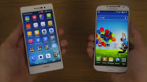 Huawei Ascend P7 vs. Samsung Galaxy S4 - YouTube