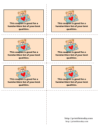 printable love coupons redeemable love coupons