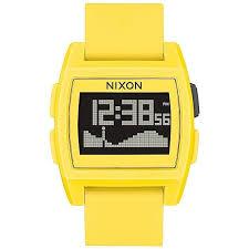 Купить электронные <b>часы Nixon Base Tide</b> Yellow в интернет ...