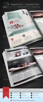 magazine ad business flyer v cursive q designs fully