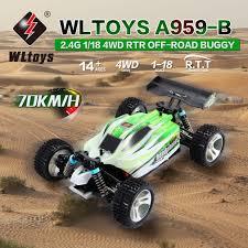 <b>WLtoys</b> A959 B 1/18 4WD Off Road <b>RC Car 70km</b>/<b>h</b> 2.4G Remote ...