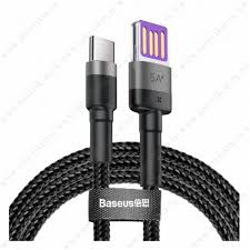 Кабель USB - Type-C <b>Baseus Cafule HW</b>, 1.0м, круглый, 5.0A ...