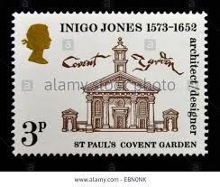inigo jones covent garden stock photos inigo jones covent garden postage stamp great britain queen elizabeth ii 1973 400th birth anniversary