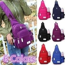 2018 <b>New</b> Fashion Women Men Sling Bag Travel Bag <b>Nylon Large</b> ...