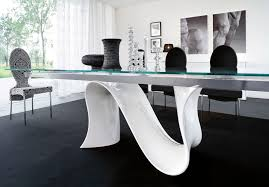 dining rooms comfy black and white room furniture come with unique curve design modern office black gloss rectangle home office