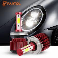 Partol 100W LED <b>H4</b> Hi Lo Beam <b>H7 H11 9005</b> 9006 9012 5202 ...