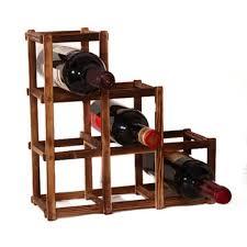 <b>wooden red wine holder</b> rack 6 bottle wine rack mount kitchen glass ...