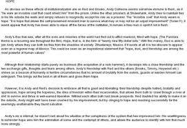 shawshank redemption essaysshawshank redemption essay question   essay topics   shawshank     the shawshank redemption film