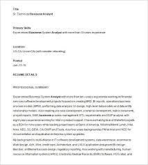Sr Technical Business Analyst Resume Template Template net