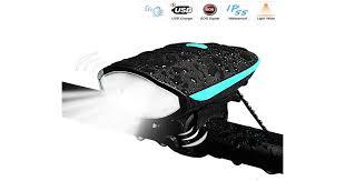 <b>Bike Light</b> with Loud Bike Horn, Rechargeable <b>Bicycle Light</b> ...