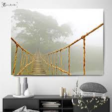 Nordic <b>Sea Waves</b> Zebra <b>Bridge</b> Canvas Printed Painting Wall ...