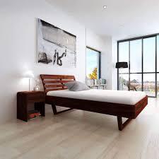 Festnight <b>Bed Frame</b> 140x200 cm <b>Solid Acacia</b> Wood