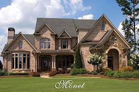 Luxury French Country House Plan   The MonetMonet Front Elevation