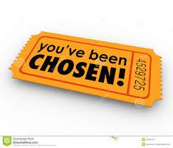 you ve been chosen one winning ticket lucky selected choice stock you ve been chosen one winning ticket lucky selected choice