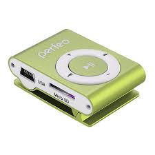 Купить MP3-<b>плеер Perfeo VI-M001 Music</b> Clip Titanium, зеленый в ...