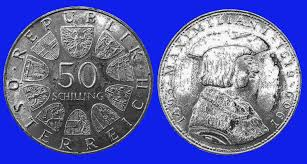 File:Austria 50 Schilling 1969 <b>Maximilian</b> I <b>Silver</b> Coin.jpg ...