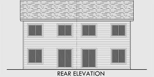Duplex House Plans  Story Duplex Plans  Bedroom Duplex PlansHouse side elevation view for D  Duplex house plans  story duplex plans