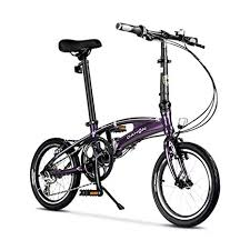 City Bike 16 Inch 8-Speed Commuter Bicycle Fold <b>Aluminum Alloy</b> ...