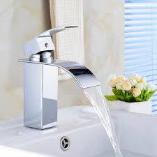 Bathroom Basin Sink Faucet <b>Waterfall</b> Mixer Chrome Advanced ...
