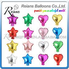 <b>50 pcs</b>/<b>lot 5 Inch</b> Five Star Heart Shape Aluminum Foil Balloons ...