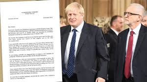 Boris Johnson's letter to <b>Jeremy Corbyn</b> calling for a general election