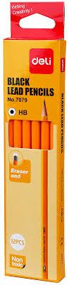 <b>Deli</b> Набор <b>чернографитных карандашей</b> с ластиком цвет ...