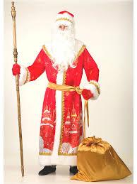 32% <b>Батик Карнавальный костюм Дед</b> Мороз сатин принт ...