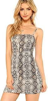 Floerns <b>Women's Snakeskin</b> Print Mini Cami Bodycon Dress at ...