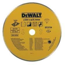 <b>Диск алмазный</b> 254х25,4 мм DeWalt DT3734 со <b>сплошной</b> кромкой
