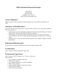 resume objective for office assistant example resume objective for office assistant 0841