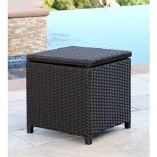 brown wicker outdoor furniture dresses: abbyson newport outdoor espresso wicker storage ottoman