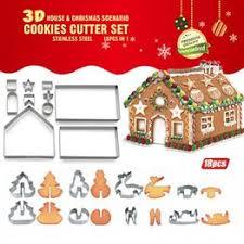18PCs 3D Christmas Cookie Cutters Baking Moulds ... - Vova