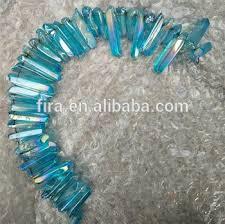 Charming Blue Rainbow Aura Spirit <b>Quartz</b> Drilled Raw <b>Crystal</b> ...