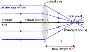 convex lenses  geometrical optics   from a level physics tutorray diagram for a convex lens