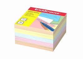 <b>Бумага для заметок Erich</b> krause 90x90x50мм 4 цвета - купить с ...