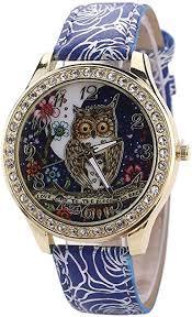 Pocciol Wristwatch,Unsex Universal <b>Cartoon</b> Owl <b>Fashion Design</b> ...