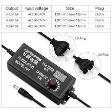 Home, Furniture & DIY <b>12V</b> Adjustable Power Adapter <b>Ac Dc</b> 3V <b>12V</b> ...