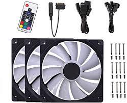 Bewinner <b>Id</b>-<b>Cooling Xf-12025-Rgb Trio</b> LED Chassis Fan: Amazon ...