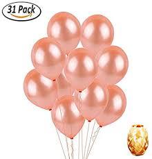 Sogorge REAL <b>Rose Gold 12 inch</b> Party Balloon <b>Set 30 Pcs</b> Elegant ...