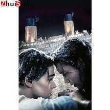 Online Shop Diamond painting 5D <b>DIY</b> movie Titanic cross stitch 3D ...