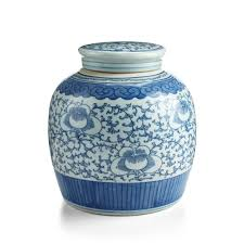<b>Hand</b>-<b>Painted Large</b> Floral Vase   <b>Blue</b> & <b>White</b> Ceramic <b>Pottery</b> ...