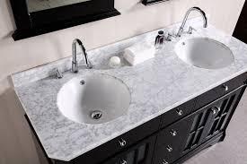 55 inch double sink bathroom vanity: imperial  double sink vanity set in espresso design element