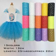 13cm*22m Glitter Sequin Tulle Roll Tutu <b>Fabric</b> Wedding Decoration ...