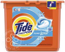 Купить <b>Капсулы для стирки Tide</b> 3in1 Pods Аромат Lenor 23шт с ...