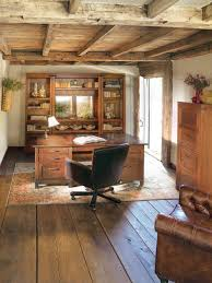 wood ceiling planks home office traditional with book shelves brown leather chair natural lighting office chair natural lighting home office