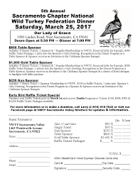 sacramento chapter banquet 3 25 17 california nwtf is working diligently to create healthier wildlife populations while keeping your hunting rights alive in the golden state come out and help support