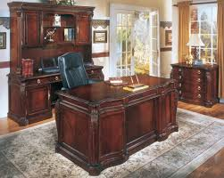 executive shaped home mahogany executive desk office furniture cherry veneer home furniture